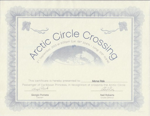 Arctic circle crossing Mona H